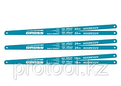Полотна для ножовки по металлу, 300 мм, 18TPI, HSS, 2 шт.// GROSS