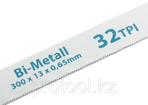 Полотна для ножовки по металлу, 300 мм, 32TPI, BiM, 2 шт.// GROSS, фото 2