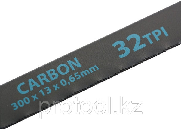 Полотна для ножовки по металлу, 300 мм, 32TPI, Carbon, 2 шт.// GROSS, фото 2