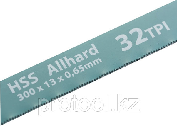 Полотна для ножовки по металлу, 300 мм, 32TPI, HSS, 2 шт.// GROSS, фото 2