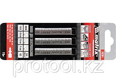 Полотна для электролобзика  по дереву, 3 шт. T101B, 75 х 2,5мм, HCS // MATRIX Professional