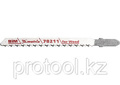 Полотна для электролобзика  по дереву, 3 шт. T101BF, 75 x 2,5мм, Bimetal // MATRIX Professional