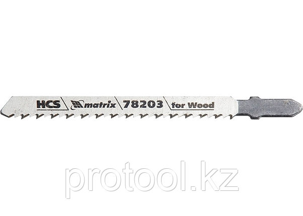 Полотна для электролобзика  по дереву, 3 шт. T101BR, 75 х 2,5мм, обр. зуб, HCS// MATRIX Professional, фото 2
