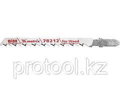 Полотна для электролобзика  по дереву, 3 шт. T101DF, 75 x 4мм, Bimetal // MATRIX Professional