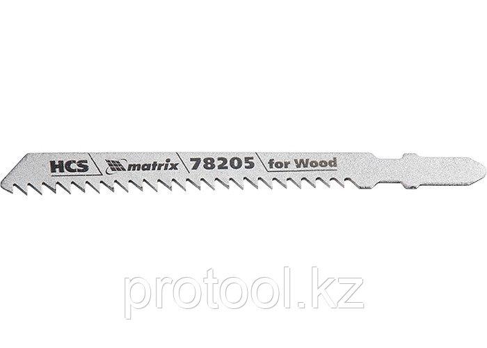 Полотна для электролобзика  по дереву, 3 шт. T111C, 75 х 3мм, HCS // MATRIX Professional