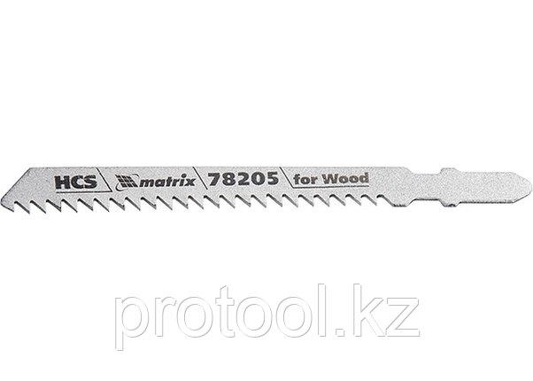 Полотна для электролобзика  по дереву, 3 шт. T111C, 75 х 3мм, HCS // MATRIX Professional, фото 2