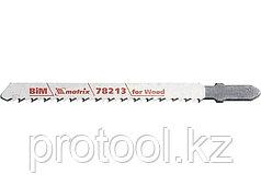 Полотна для электролобзика  по дереву, 3 шт. T101BRF, 75 x 2,5мм, обр. зуб, Bim//MATRIX Professional