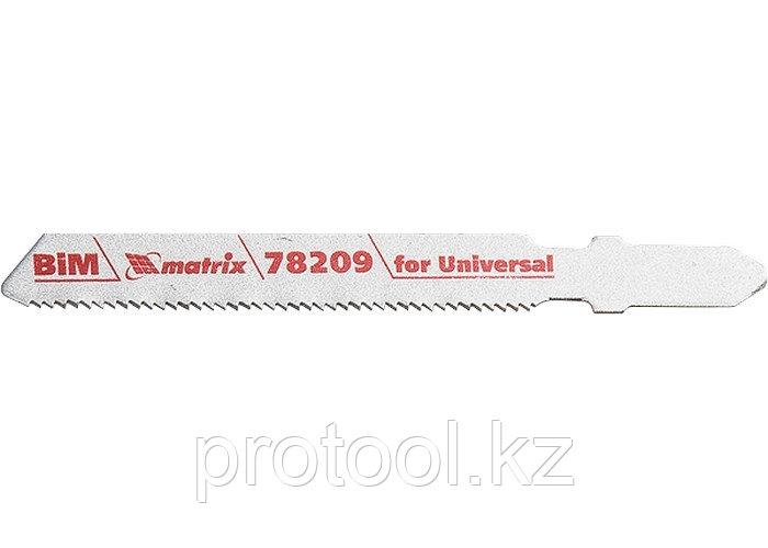 Полотна для электролобзика  по металлу, 3 шт. T118AF, 55 х 1,2мм, Bimetal  // MATRIX Professional