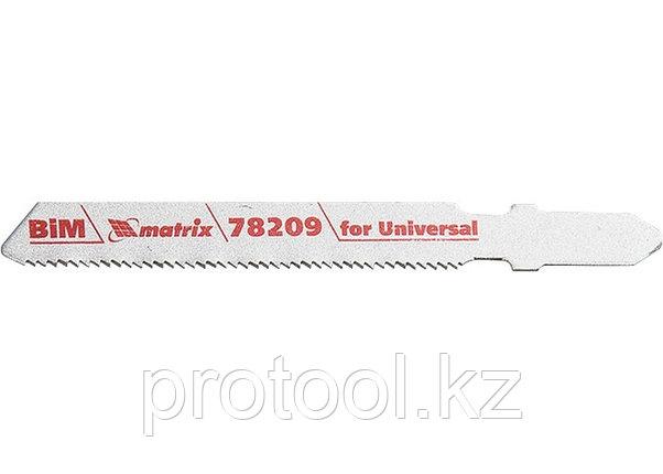 Полотна для электролобзика  по металлу, 3 шт. T118AF, 55 х 1,2мм, Bimetal  // MATRIX Professional, фото 2