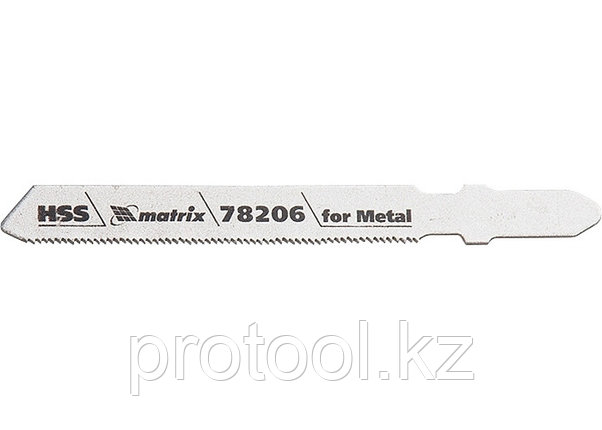 Полотна для электролобзика  по металлу, 3 шт. T118G, 50 х 0,8мм, HSS // MATRIX Professional, фото 2