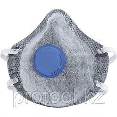 Полумаска фильтрующая (респиратор) c угольным слоем, с клапаном выдоха, FFP1, 10 шт// СИБРТЕХ/Россия