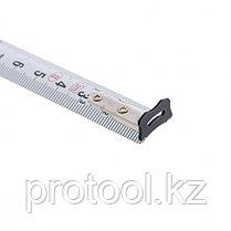 """Рулетка """"Doppelhaken"""", 3 м x 16 мм, односторонний зацеп, нейлон, двуст. шкала, автоматич// GROSS, фото 3"""