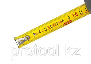 "Рулетка ""Schlagfest"", 5 м x 19 мм, магн. обрез зацеп, двухст. шкала, нейлон покр. автоматич// GROSS, фото 2"