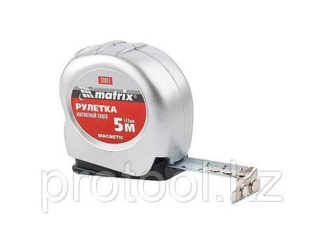 Рулетка Magnetic, 5 м х 19 мм, магнитный зацеп// MATRIX, фото 2