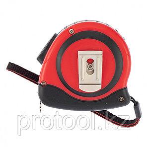 Рулетка Status autostop magnet, 7,5 м х 25 мм, двухкомпонентный корпус, зацеп с магнитом// MATRIX, фото 2