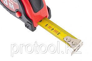 Рулетка Status magnet fixation, 3 м х 16 мм, обрезиненный корпус, зацеп с магнитом// MATRIX, фото 3