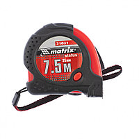 Рулетка Status magnet fixation, 7,5 м х 25 мм, обрезиненный корпус, зацеп с магнитом// MATRIX
