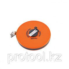 Рулетка геодезическая, 30 м х 12,5 мм, лента ПВХ, закрытый круглый корпус// SPARTA