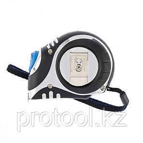 Рулетка Платинум, 5 м х 19 мм, утолщенное полотно, автоматическая фиксация// БАРС, фото 2