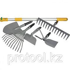 Садовый набор 6 предметов, со съёмной телескопической рукояткой // PALISAD LUXE