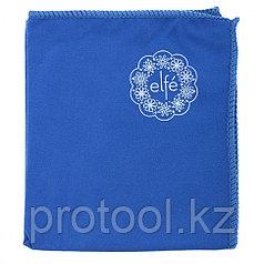 Салфетка из микрофибры для оптики, стекол и зеркал синяя 350*300 мм//Elfe