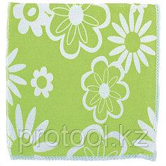 Салфетки из микрофибры с зел.цветами 300*300 мм//Elfe