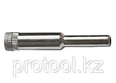 Сверло алмазное по керамической плитке и стеклу, 8 мм, цилиндрический хвостовик// SPARTA
