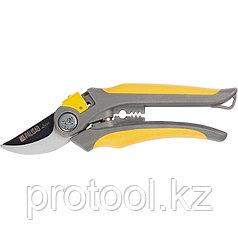 Секатор прямого реза 210 мм, усиленный, 2-компонентные обрезиненные рукоятки// PALISAD LUXE