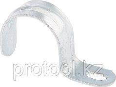 Скоба металлическая однолапковая 25(СМО) 100шт.// СИБРТЕХ