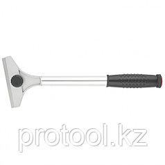 Скребок, 100 мм, фиксированное лезвие удл. металлическая обрезиненная ручка// MATRIX MASTER