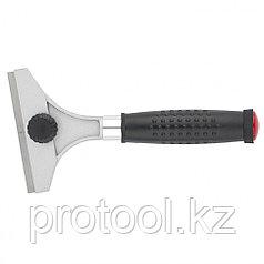 Скребок, 100 мм, фиксированное лезвие, металлическая обрезиненная ручка// MATRIX MASTER