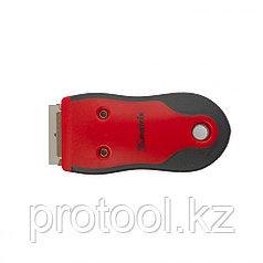 Скребок, выдвижное лезвие, обрезиненный корпус из нержавеющей стали 3 запас.  лезвия//MATRIX