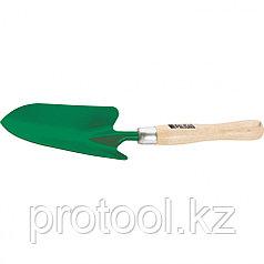 Совок посадочный широкий, деревянная рукоятка, 380 мм// PALISAD