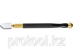 Стеклорез 1-роликовый с металлической ручкой, масляный// MАТРИКС