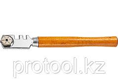Стеклорез 6-роликовый с деревянной рукояткой// SPARTA