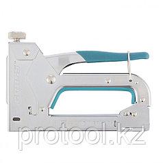 Степлер мебельный регулируемый (Handwerker), стальной корпус, тип скобы 53, 4-14 мм// GROSS
