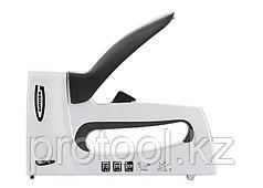 Степлер мебельный, алюминиевый корпус,регулировка удара, тип скобы 13, 53, 300, 6-16мм// GROSS