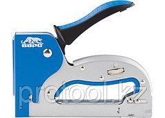 Степлер металлический, регулировка удара, двухкомпонентная рукоятка, тип скобы 53, 4-14мм// БАРС