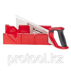 Стусло, 300 х 100 мм, пластиковое + обушковая пила, 350 мм, двухкомпонентная рукоятка// MATRIX.