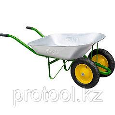 Тачка садовая, два колеса, грузоподъемность 170 кг, объем 78 л// PALISAD