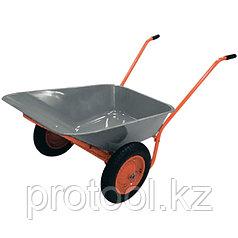 Тачка садово-строительная ТСО-2-02.ОЦ, двухколесн., пневмоколесо, грузоподъемность 120 кг, объем 90л