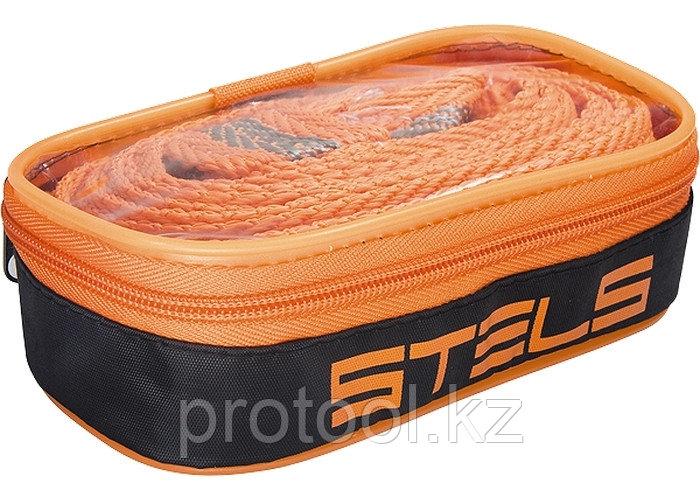 Трос буксировочный 5 тонн, 2 крюка, сумка на молнии // STELS Россия