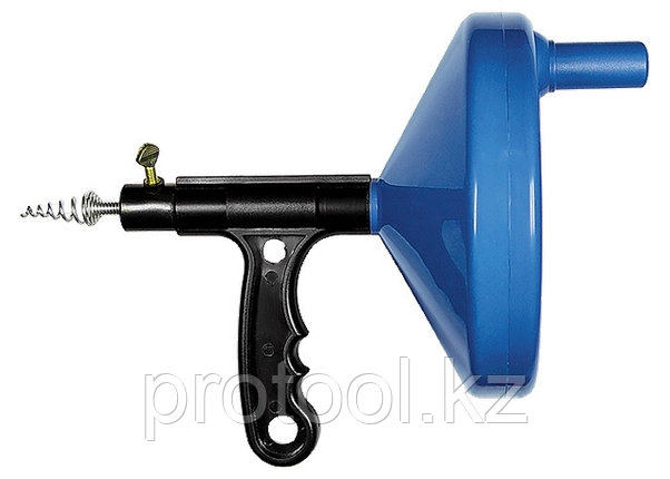 Трос для прочистки труб, L - 3,3 м, D - 6 мм, пластмассовый корпус// СИБРТЕХ, фото 2