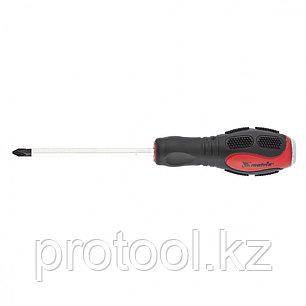 Ударная отвертка, PH2 x 100 мм, двух-компонентная рукоятка, CrV //Matrix, фото 2