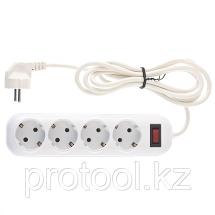 Удлинитель бытовой серия EF, с заземлением и выключателем, 2м, 4 розетки, 10A // Stern, фото 2