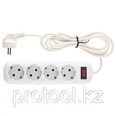 Удлинитель бытовой серия EF, с заземлением и выключателем, 2м, 6 розетки, 10A // Stern