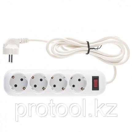 Удлинитель бытовой серия EF, с заземлением и выключателем, 2м, 6 розетки, 10A // Stern, фото 2