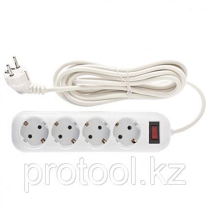 Удлинитель бытовой серия EF, с заземлением и выключателем, 4м, 4 розетки, 10A // Stern, фото 2