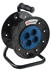 Удлинитель силовой на кабельной катушке, 25м, 4 розетки // Stern