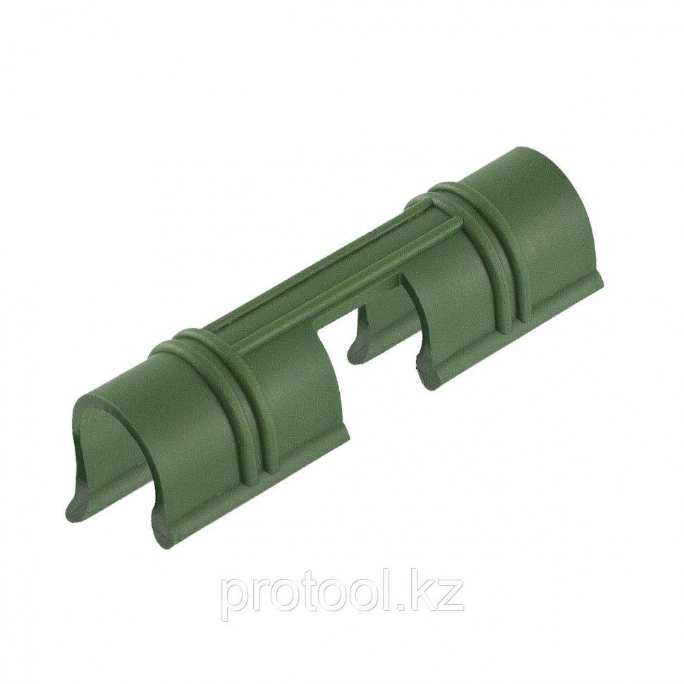 Универсальные зажимы для крепления пленки к каркасу парника d12мм, 20 шт/уп, зеленые // PALISAD